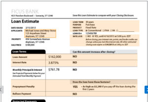 Loan Cost Estimate Form