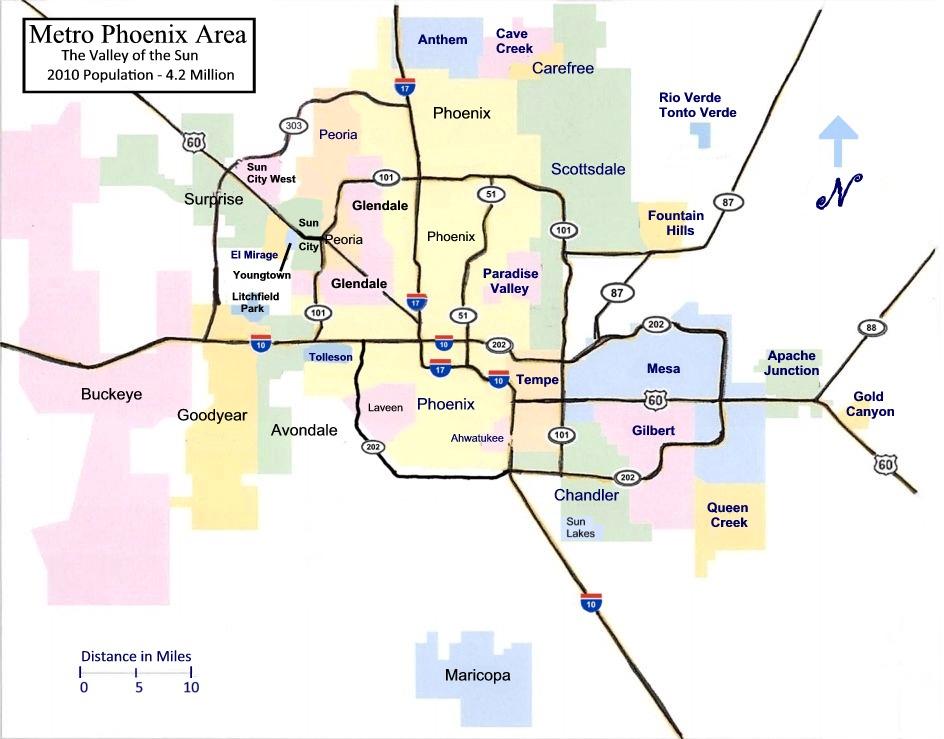 metro-Phoenix Map